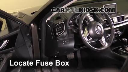 Interior Fuse Box Location: 2014-2017 Mazda 3 - 2014 Mazda 3 Touring