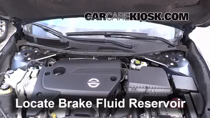 2013 2017 Nissan Altima Brake Fluid Level Check 2014