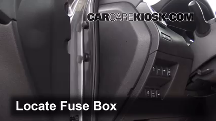 Interior Fuse Box Location: 2014-2019 Nissan Rogue - 2014 Nissan