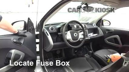 Interior Fuse Box Location: 2008-2015 Smart Fortwo - 2014 Smart Fortwo  Passion 1.0L 3 Cyl.CarCareKiosk