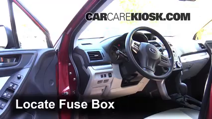 Interior Fuse Box Location: 2014-2016 Subaru Forester - 2014 Subaru
