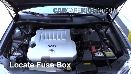 replace a fuse 2012 2014 toyota camry 2014 toyota camry se 3 5l v6 Chrysler 3.5 Engine 3 remove cover locate engine fuse box and remove cover