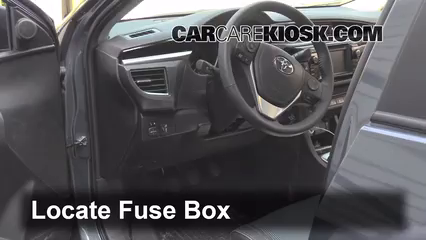 interior fuse box location: 2014-2019 toyota corolla