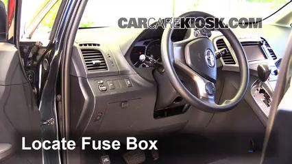 interior fuse box location 2009 2016 toyota venza 2014 toyota Mustang Fuse Box