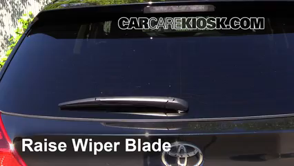2014 Toyota Venza LE 3.5L V6 Windshield Wiper Blade (Rear) Replace Wiper Blade