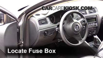 Interior Fuse Box Location: 2011-2018 Volkswagen Jetta