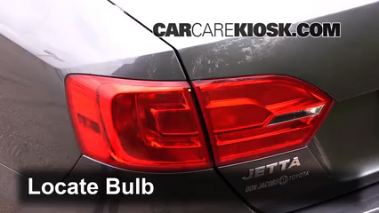 2014 Volkswagen Jetta SE 1.8L 4 Cyl. Turbo Sedan (4 Door) Lights Tail Light (replace bulb)