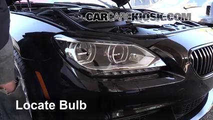 2014 BMW 650i xDrive Gran Coupe 4.4L V8 Turbo Lights Highbeam (replace bulb)