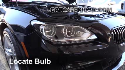 2014 BMW 650i xDrive Gran Coupe 4.4L V8 Turbo Luces Luz de estacionamiento (reemplazar foco)