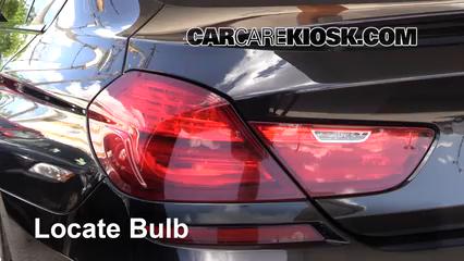 2014 BMW 650i xDrive Gran Coupe 4.4L V8 Turbo Luces Luz trasera (reemplazar foco)