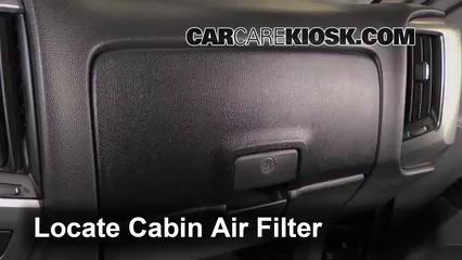 2014 Chevrolet Silverado 1500 LT 5.3L V8 FlexFuel Crew Cab Pickup Filtro de aire (interior)