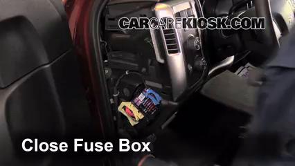 Interior Fuse Box Location: 2014-2018 Chevrolet Silverado 1500 - 2014  Chevrolet Silverado 1500 LT 5.3L V8 FlexFuel Crew Cab Pickup | 2014 Silverado 1500 Fuse Box Location |  | CarCareKiosk