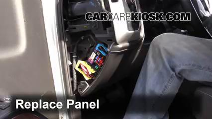 Interior Fuse Box Location: 2014-2018 GMC Sierra 1500 - 2014 GMC Sierra  1500 SLE 4.3L V6 FlexFuel Crew Cab Pickup   2014 Sierra Fuse Box      CarCareKiosk