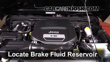 2014 Jeep Wrangler Sport 3.6L V6 Brake Fluid