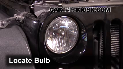 2014 Jeep Wrangler Sport 3.6L V6 Lights Headlight (replace bulb)