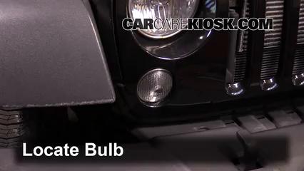 2014 Jeep Wrangler Sport 3.6L V6 Lights Turn Signal - Front (replace bulb)