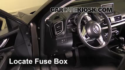 Interior Fuse Box Location: 2014-2018 Mazda 3 - 2014 Mazda 3 Touring 2.0L 4  Cyl. Sedan | 2014 Mazda 3 Gt Fuse Box Diagram |  | CarCareKiosk