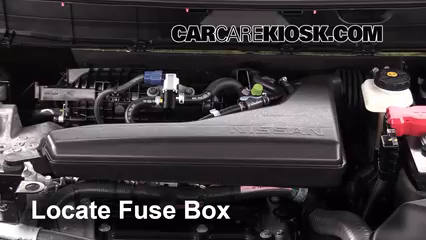 Replace a Fuse: 2014-2019 Nissan Rogue - 2014 Nissan Rogue SL 2.5L 4 Cyl. | 2014 Nissan Rogue Fuse Box Location |  | CarCareKiosk