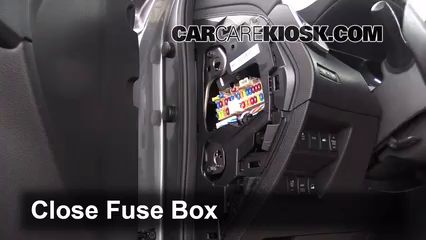 Interior Fuse Box Location: 2014-2019 Nissan Rogue - 2014 Nissan Rogue SL  2.5L 4 Cyl. | 2014 Nissan Rogue Fuse Box Location |  | CarCareKiosk