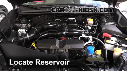 2014 Subaru XV Crosstrek Limited 2.0L 4 Cyl. Líquido limpiaparabrisas Agregar líquido