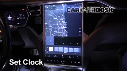 2014 Tesla S Electric Clock