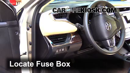 interior fuse box location: 2013-2018 toyota avalon - 2014 toyota avalon  hybrid xle 2.5l 4 cyl.  carcarekiosk