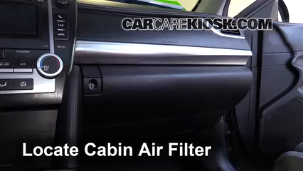 2014 Toyota Camry SE 3.5L V6 Air Filter (Cabin)