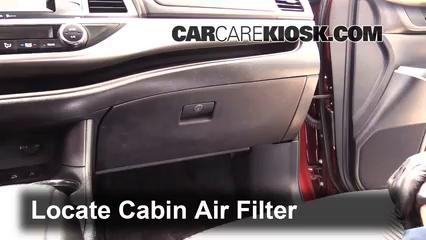 2014 Toyota Highlander LE 3.5L V6 Filtro de aire (interior) Cambio
