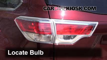 2014 Toyota Highlander LE 3.5L V6 Lights Reverse Light (replace bulb)