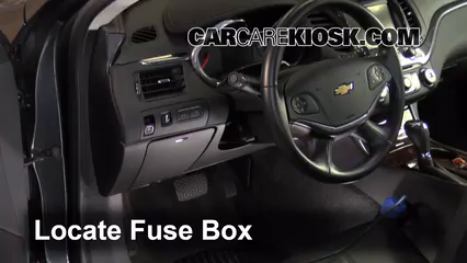 interior fuse box location 2014 2016 chevrolet impala 2015 2014 chevy impala fuse box at 2014 Chevy Impala Fuse Box