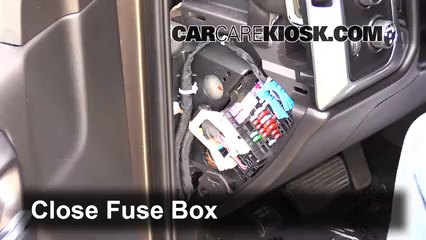 Interior Fuse Box Location: 2014-2018 Chevrolet Silverado ...