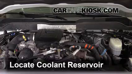How to Add Coolant: Chevrolet Silverado 2500 HD (2015-2018 ...