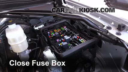replace a fuse 2014 2017 chevrolet suburban 2015 chevrolet tahoe fuse box 6 replace cover secure the cover and test component