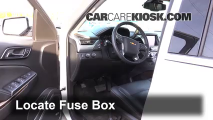 interior fuse box location: 2014-2019 chevrolet suburban