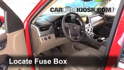 Interior Fuse Box Location: 2014 2018 Chevrolet Tahoe