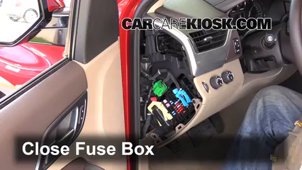 interior fuse box location 2014 2018 chevrolet tahoe 2015 2006 kia spectra fuse box secure the cover and test component