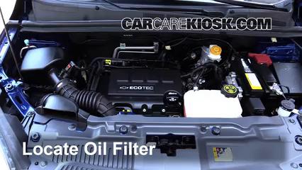 Oil Filter Change Chevrolet Trax 2015 2019 2015 Chevrolet