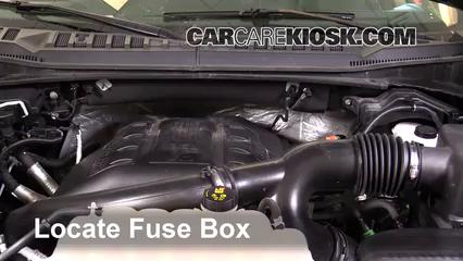 blown fuse check 2015 2017 ford f 150 2015 ford f 150 xlt 3 5l v6 1997 F150 Fuse Box Diagram locate engine fuse box and remove cover