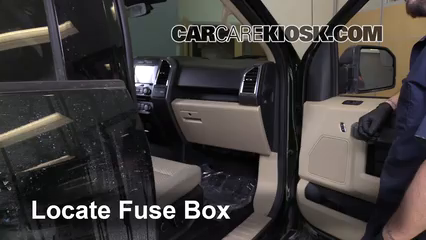 Interior Fuse Box Location: 2015-2019 Ford F-150 - 2015 Ford