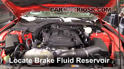 ford mustang brake fluid level check  ford