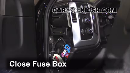 interior fuse box location: 2015-2019 gmc sierra 2500 hd - 2015 gmc sierra  2500 hd 6 0l v8 flexfuel extended cab pickup