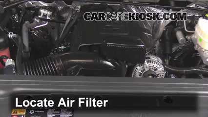 2015 GMC Sierra 2500 HD 6.0L V8 FlexFuel Extended Cab Pickup Air Filter (Engine) Replace