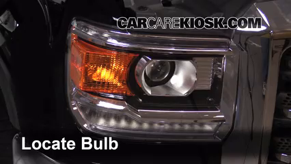 2015 GMC Sierra 2500 HD 6.0L V8 FlexFuel Extended Cab Pickup Lights Turn Signal - Front (replace bulb)
