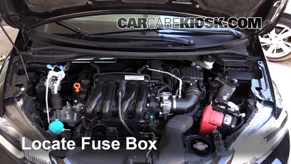 Replace a fuse 2015 2016 honda fit 2015 honda fit ex 15l 4 cyl locate engine fuse box and remove cover sciox Image collections