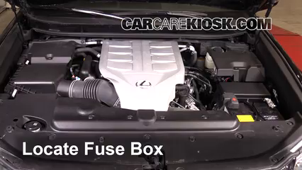 replace a fuse 2010 2017 lexus gx460 2015 lexus gx460 luxury 4 6l v8locate engine fuse box and remove cover