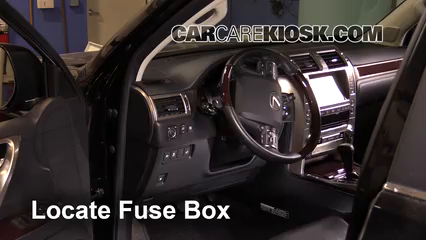 interior fuse box location 2010 2017 lexus gx460 2015 lexus gx460 2008 Lexus LX 570 locate interior fuse box and remove cover