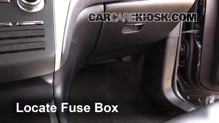 interior fuse box location 2015 2017 lincoln mkc 2015 lincoln mkc2015 lincoln mkc 2 0l 4 cyl turbo fuse (interior) check