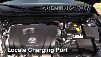 How to Add Refrigerant to a 2014-2019 Mazda 6 - 2015 Mazda 6 Sport