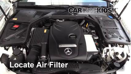 2015-2019 Mercedes-Benz C300 Engine Air Filter Check - 2015