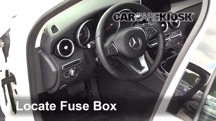 Interior Fuse Box Location: 2015-2019 Mercedes-Benz C300